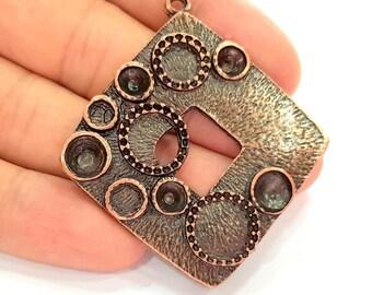 Antique Copper Pendant Antique Copper Plated Pendant (42mm) G8170