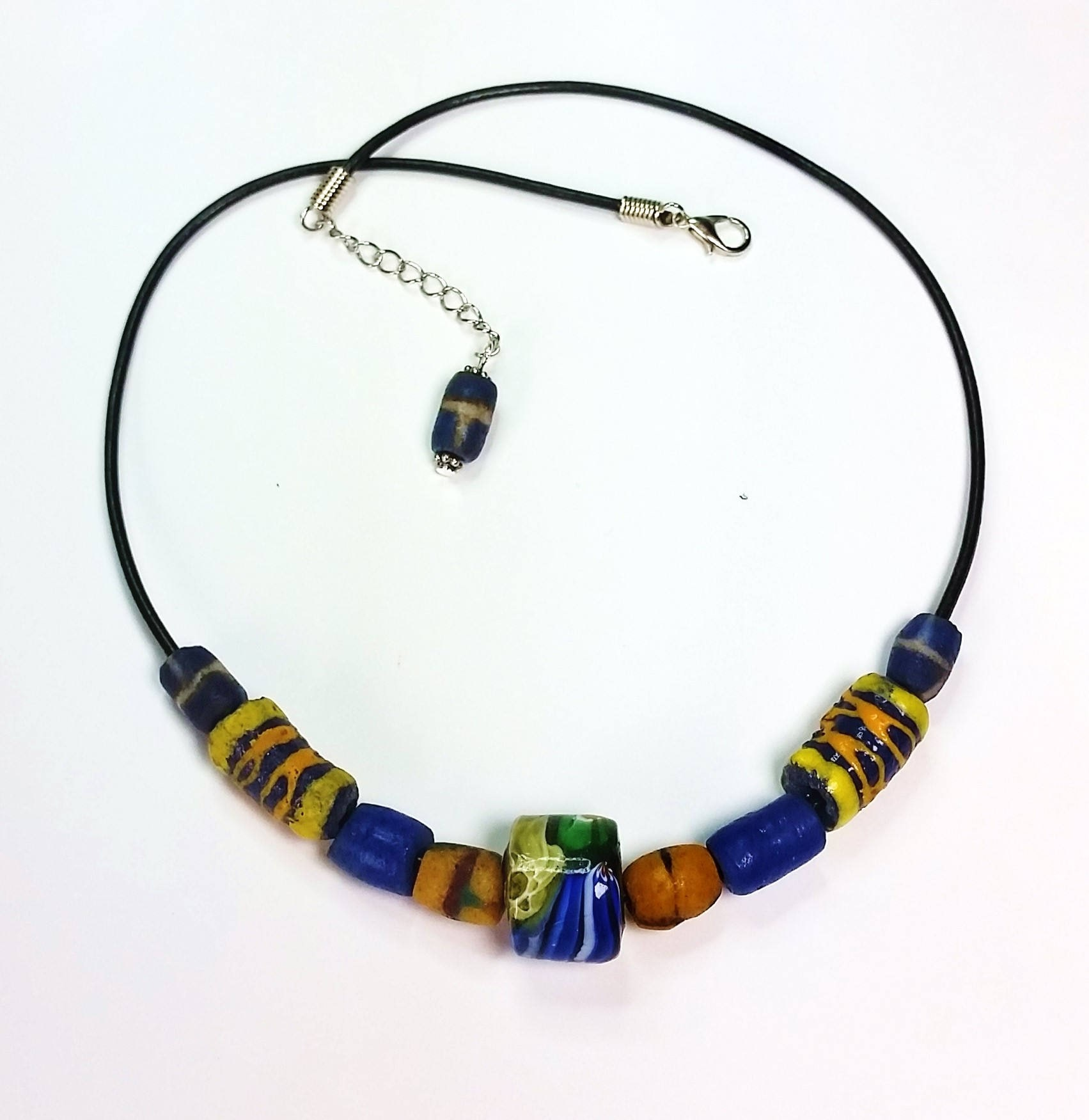 listing unisex bead cord with leather extender il fullxfull trade necklace on