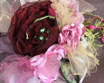 Rose Victorian Brooch