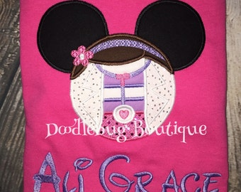 Doc McStuffins Minnie Mouse shirt with name