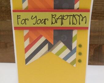 SALE, SALE BAPTISM Card kit, Premade baptism Cards, Handmade Card Kit, Handmade baptism Card Kit, Pre-made baptism Cards, Boy baptism