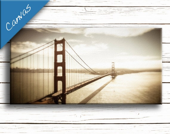 Living room decor San Francisco art Coastal art Canvas art Home decor wall art Fine art photography / Golden Gate Bridge