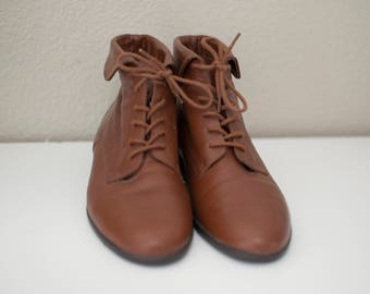Vintage Ankle Boots leather size 6