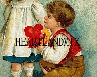 Vintage Victorian Valentine Download Art Graphic Image printable valentine