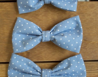 Boys Clip-on Bow Ties | Infant Bow Ties | Little Boys Bow Tie | Alligator Clip Bow Ties | Chambray Bow Ties