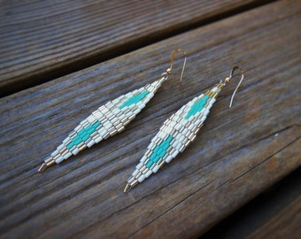 Geometric Diamonds Woven Earrings