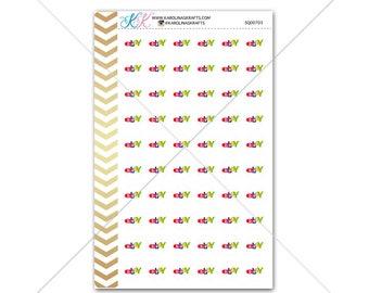Ebay Stickers for planner, calendar! Functional planner stickers reminder sticker functional sticker shopping sticker #SQ00703