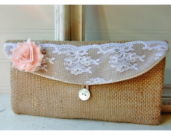 Gift For Mom. Mother Of The Bride. Gift For Her. Monogrammed Clutch. Wedding Clutch. burlap purse. Personalized Bridesmaids Gifts. Gift Idea