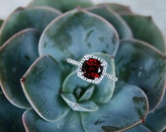 Ruby Ring, July, Birthstone Ring, Ruby Birthstone Ring, Sterling Silver Ring, July Birthstone