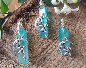 Aqua Aura, Fairy Dew Drop Pendants