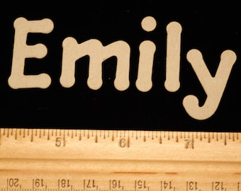 Emily Chipboard Die Cut Name for Cardmaking, Scrapbooking or Collage