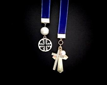 Royal Blue Velvet Bookmark