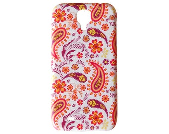 Paisley Design for Samsung S4 Galaxy Case S5 Colorful Orange Cover Classic Decorative Had Plastic Purple Pattern Skin Classical Print c128
