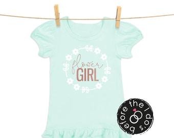 flowerGIRL Tee for Little Girls /// Flower Shirt, Petal Shirt, Wedding Shirt | #1800