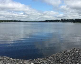 Lake meets the sky