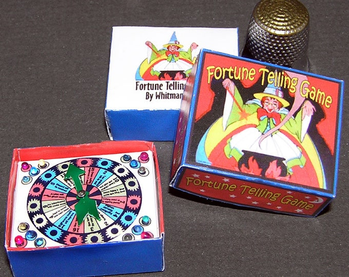 Fortune teller, spinner game, Paperminis, Bastelkit of paper in miniature for the Dollhouse, the doll house, Dollhouse Miniatures