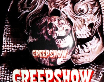 "H011 Creepshow 1"" Pinback Button Pin Cult Classic Horror Cinema Film Movie George A. Romero Stephen King"