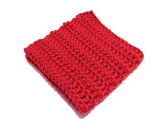 Burnt Sienna Crocheted Square Dish Cloth