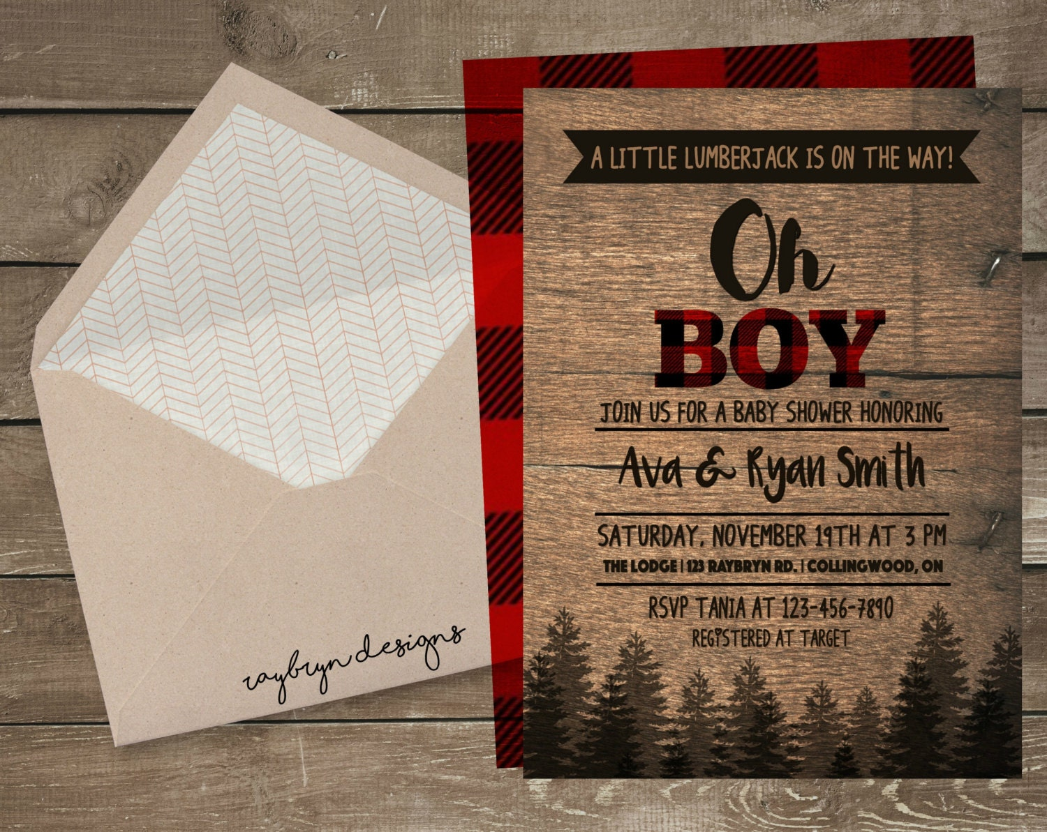 A Little Lumberjack is on the way! |Baby Boy on the way | Rustic ...