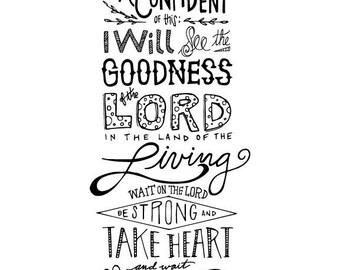 Psalm 27 Handlettering
