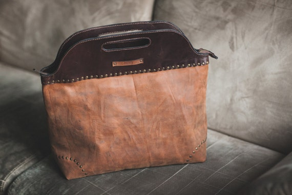 City Doctor Bag, Full Grain Leather Bag, Large Leather Bag, Hand Leather Bag, Hand Bag, Office Bag