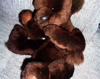 Teddy bear made of genuine fur mink teddy bear with joints new bear