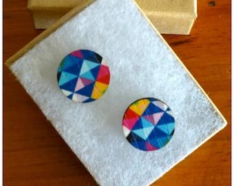 Laser Cut Wooden Geo Earrings