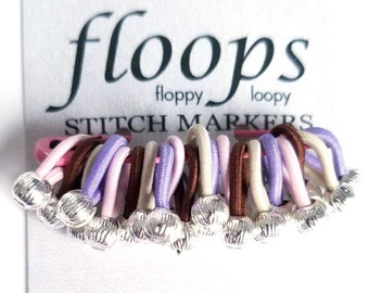 """New Slimmer Floops - """"Maidstone"""" - Floops Stitch Markers - great gift for knitters"""