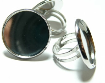 Finish jewelry 1 coin ring double quality 25mm PP