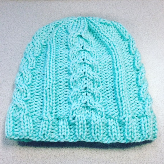 Climbing Cables Ski Beanie Hat Knitting PATTERN