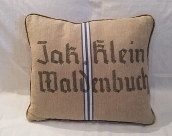 German Feed Sack Pillow