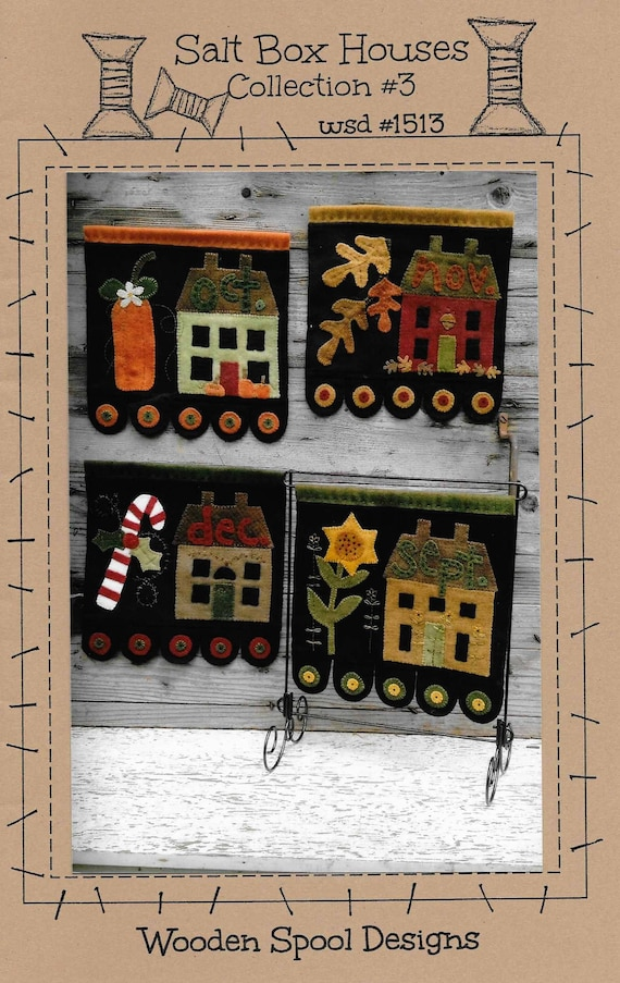 Wool Applique Pattern Salt Box Houses Primitive Decor on button box, fishing leader box, collar box, steel box, yarn box, nut box, key box, pulley box, bobbin box, drum box, tie box, frame box, pin box, stone box, spin box, pallet box, coil box,