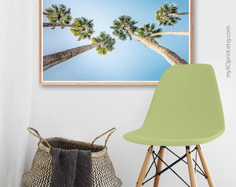 Modern Wall Decor, Palm Tree Print, Tropical Print, Printable Wall Art, Palm Tree Art, Digital Download, Blue Sky, Tree Print, California