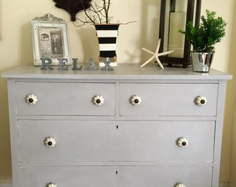 SOLD  Vintage Wood Rustic Dresser Hand Painted Annie Sloan Chalk Paint Pick Up Only