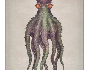 Gigantic octopus -  A4 art print