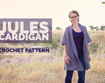 Crochet Jules Cardigan PATTERN   Crochet Cardigan Pattern   Crochet Pattern   Sweater Pattern   Cardigan Pattern   Instant Download Pattern