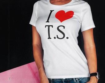 Women's I love T. S. Shirt short sleeve t-shirt