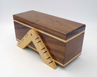 Walnut Jewelry Box with Keyed Miter Legs
