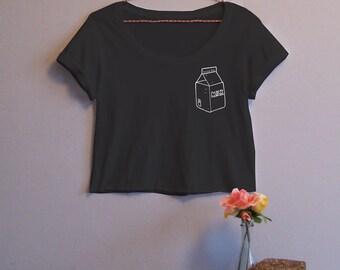 Milk Carton Women's Crop Tee