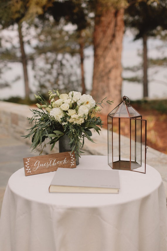 Guestbook sign guest book sign wedding guestbook sign wood for Table sign design