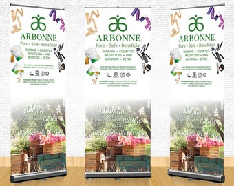 Arbonne Pull Up Banner (01) - digital files supplied ONLY