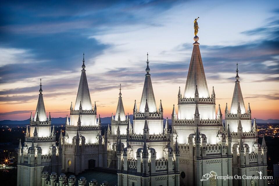 Fotos de templo de LDS de Salt Lake City Utah personalizado