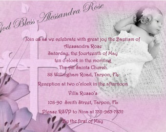 Baptism/Communion/Confirmation Invitation (electronic file only)