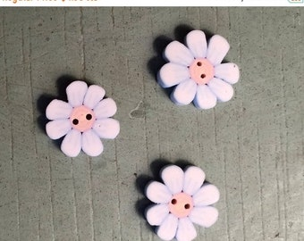 """SALE Flower Buttons, """"Tiny Daisy"""" Handmade Buttons by JABC, Set of 3 Buttons, Sewing, Cross Stitch, Quilting, Embellishments"""