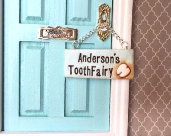 Tooth Fairy Sign for Fairy Door, Tooth Fairy Door, Magical Fairy Door, Fairy Garden, Fairy Door Sign, Miniature Sign, Ann Arbor Door