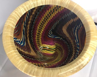 Colors Bowl woodturning segmented