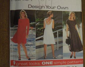 Simplicity 7237, sizes 6-10, misses, petite, dress, UNCUT sewing patterns, craft supplies