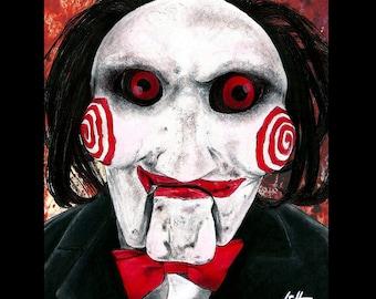 "Print 8x10"" - Let The Game Begin - Billy Saw Jigsaw Serial Killer Horror Dark Art Doll Creepy Scary Death Torture Gothic Ventriloquist"
