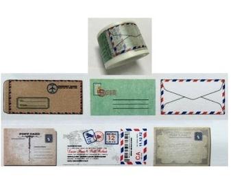 Diary Scrapbook Adhesive Masking Deco Washi Tape - Airmail Envelope