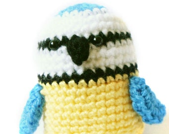Amigurumi Pattern - Blue Tit - Bird Crochet Pattern